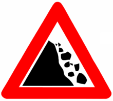 Warning stone fall